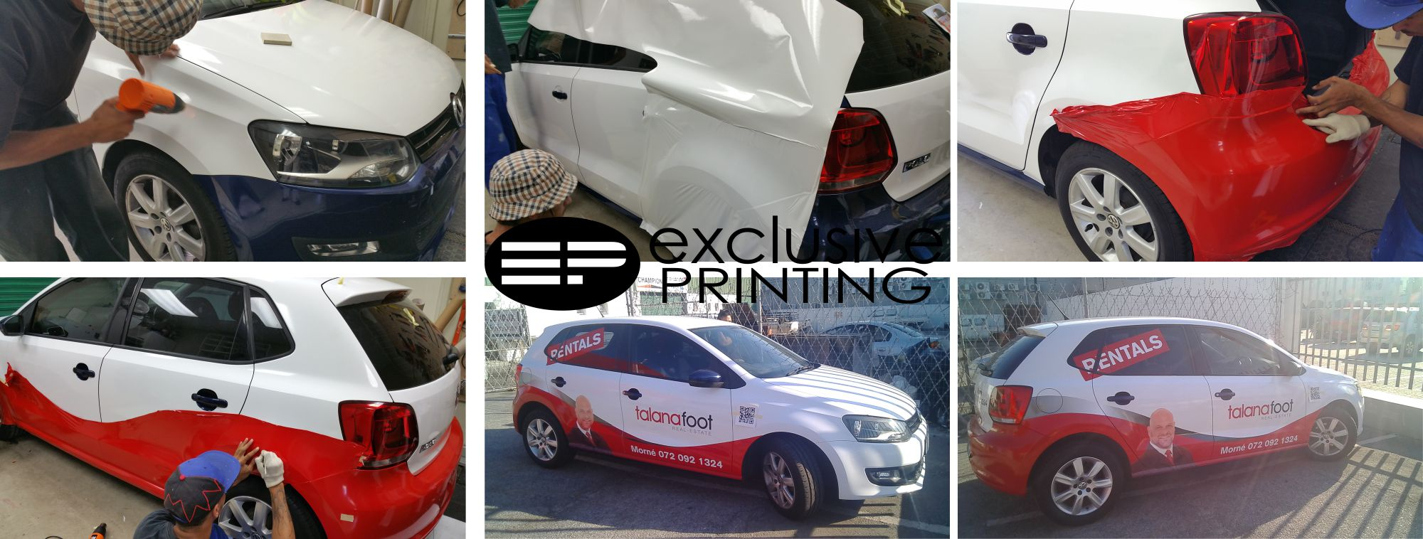Car signage stickers branding wrapping